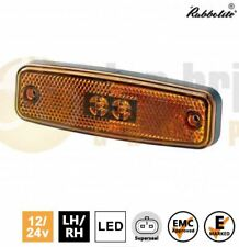 Rubbolite M890 LED Amber Rear Side Marker Reflector Lamp Light Truck Lorry Trail