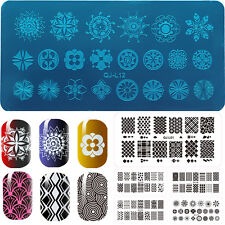 5X Manicure Template Nail Art Image Stamping Polish Print Metal Plate Stamper be