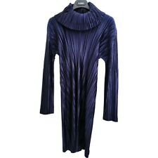 Issey Miyake Pleates Please dress navy roll neck size 4 JPN S-L