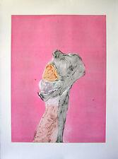 """Fritz Scholder """"Monster Love Series #1, 1986"""" Color Monotype"""