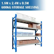 Longspan Shelving Warehouse Racking Garage Storage Shelves 1.8M x 2.4M x 0.5M
