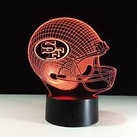 San Francisco 49ers Niners 3D LED NFL Lamp Colin Kaepernick Home Decor Gift