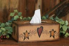 New Primitive Country Star Heart Tissue Box Rectangle