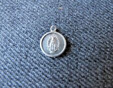 Antique Our Scared Heart & Our lady miniature aluminum medal