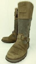 Timberland Earthkeepers 3601 Kids Boots Tall US 1.5 Brown Leather Gray Suede 403