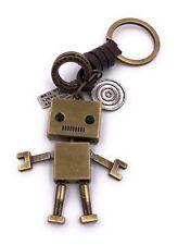 Roboter mit Mund golden Schlüsselanhänger Anhänger aus Metall