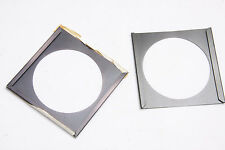 """Metal for Wratten 3x3"""" Filter Frame 2-Piece Slide-Out - 2 3/8"""" Opening USED D42"""