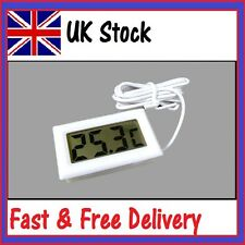 White Digital LCD Refrigerator Fridge Freezer Temperature Thermometer