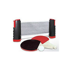Arnotts Instant Table Tennis Kit Ping Pong Set Retractable Net 2 Bats Portable