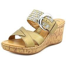 Born Jonna Women US 9 Gold Wedge Sandal