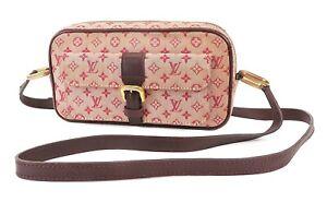 Authentic LOUIS VUITTON Juliette MM Red Monogram Mini Lin Shoulder Bag #38858