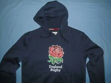 England Rugby / Official Product - MENS navy hooded Top / Jumper. Size: L