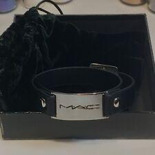 Bnib Mac *Wrap Bracelet* Black Leather Jewelry ~Employee~ Rare, Limited Edition