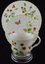 James Kent OLD FOLEY STRAWBERRY Trio Set: CUP Saucer /Dessert Plate