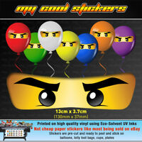 Large 13cm Ninjago Eyes Vinyl Stickers for Balloons Lolly Loot Bags Party - Lego
