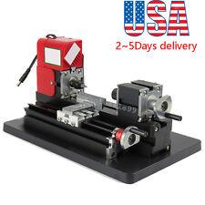Metal Working Lathe Motorized Machine DIY Tool Metal Woodworking 20000rpm/m 24W