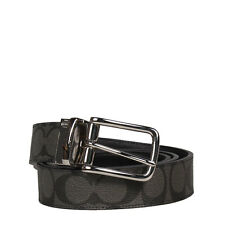 NWT COACH HARNESS CUT TO SIZE REVERSIBLE BELT IN SIGNATURE F63937