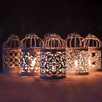 Candle Holder Hollow Bird Cage Hanging Lantern Home Decor Tealight Metal Holder