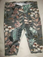 Next Baby Girls Olive Green Floral Lace Trim leggings - Age - Up To 3 Months