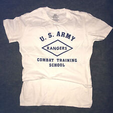 WWII US Army Ranger Combat Training School T Shirt Repro Spec Tag Mens sz S - XL
