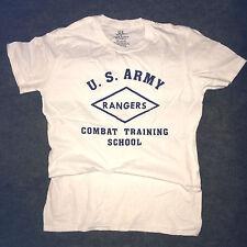 WWII US Army Ranger Combat Training School T Shirt Repro Spec Tag Mens sz S - XL