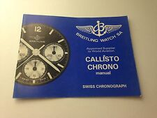 ULTRA RARE BOOKLET FOR BREITLING CALLISTO CHRONO WATCH 80SS