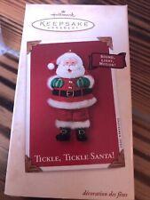 2002 Tickle, Tickle Santa! Hallmark Keepsake Collector Ornament Nib Lot 105