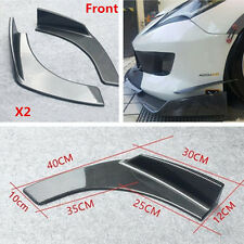 2x Winglet Car SUV Front Bumper Lip Diffuser Splitter Canard Carbon Fiber Style