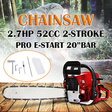 20'' Pro 52CC Engine Petrol Chainsaw Cutting Wood Saw Bar Handle+Repair Tool New