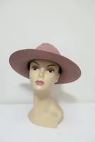 Janessa Leone Straw Panama Hat with Leather Band Beige Size Large