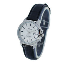 -Casio LTPV004L-7A Ladies' Analog Leather Watch New & 100% Authentic