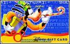 DISNEY USA FLORIDA 2009 GOOFY HAPPY BIRTHDAY LIMITED RARE COLLECTIBLE GIFT CARD