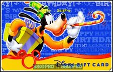 DISNEY USA FLORIDA 2009 GOOFY HAPPY BIRTHDAY LIMITED RARE COLLECTIBLE GIFT CARD