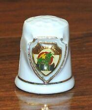 Unbranded Puerto Rico Enamel White Ceramic Collectible Souvenir Thimble!