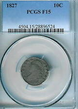 1827 Capped Bust Dime : PCGS F15