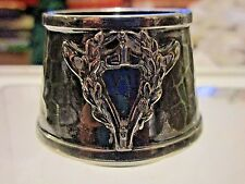 VAN BERGE SILVERPLATE TOOTHPICK OR SALT ..ARMORAL CREST REPOUSSE..NO INTIALS