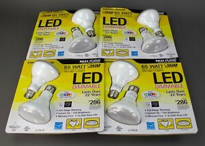 8 Bulbs Feit 65 Watt Led BR30 Dimmable Flood Bulbs 4 - 2 Pack Sets 750 Lumen A69