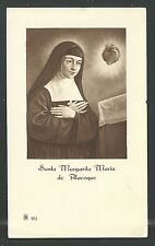 image pieuse ancianne de Santa Margarita Alacoque santino holy card estampa