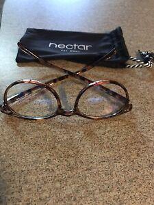 Nectar Blue Light Blocking Glasses Brown Tortoise Brand NEW