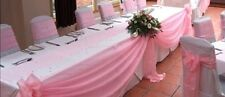 Light Pink Valance Swag For All Parties Decor Voile Fabric Size 1 Yard X 6 Yard