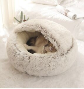 House Kennel Puppy Cave Sleeping Bed For Cats  Soft Mat Winter Warm Nest Bed