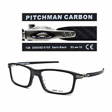 Oakley PITCHMAN CARBON OX8092-0153 Satin Black 53/18/138 Eyeglasses Rx - New
