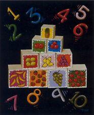 1, 2, 3   NUMBERS  BLOCKS  16 X 20 INCH ART PRINT POSTER