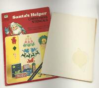 Vintage Whitman Santas Helper Christmas Stencils 1976 Patterns Craft Kit USED