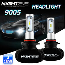 NIGHTEYE 9005 HB3 LED Headlight Bulbs 50W 6500K 8000LM Light Conversion Kit US