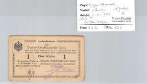 Deutsch-Ostafrikanische Africa German 1 Rupee 1.11.1915 N°69871 Pick 9Ab