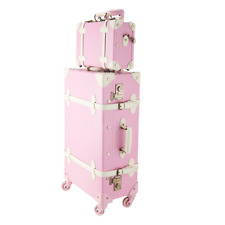 """CO-Z Premium Vintage Luggage Sets 24"""" Trolley Suitcase and 12"""" Hand Bag Set with"""