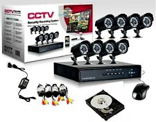 KIT VIDEO SORVEGLIANZA 8 TELECAMERA INFRAROSSI HD500 + DVR + ALIMENTATORE + CAVi