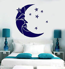 Vinyl Wall Decal Moon and Stars Crescent Dream Bedroom Stickers (ig4387)