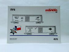 Marklin HO 2-Car Set 4579 M-K-T and Texas & Pacific Boxcars
